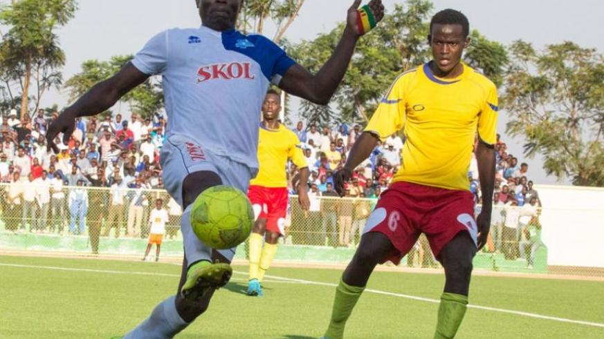 Malian striker Ismael Diarra (L) joined Rayon Sports in February and has scored four goals in the league. (T. Kisambira)