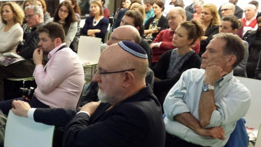The Jewish community during the comemmoration event in London on Sunday. (Courtesy)