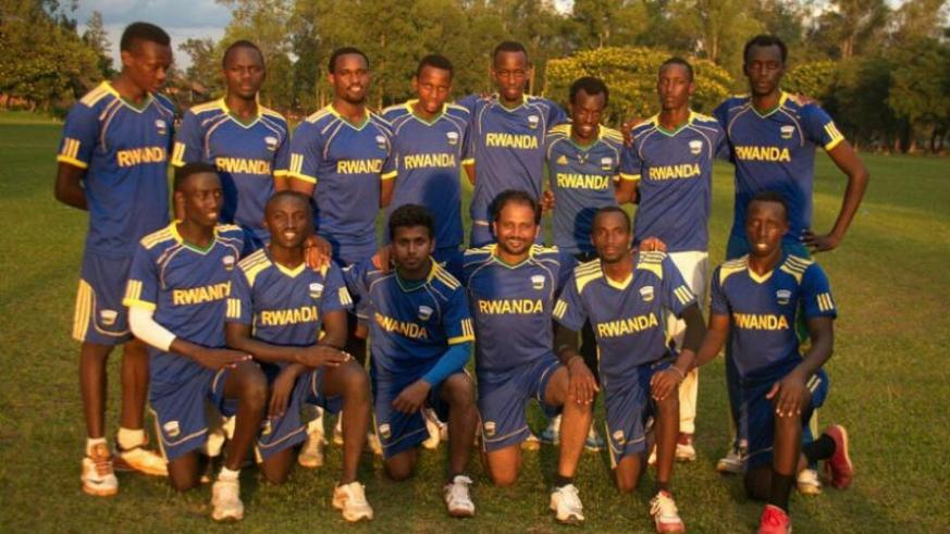 Rwanda National cricket team pose for a group photo after a training session. The team flies out to South Africa on Thursday. (File)
