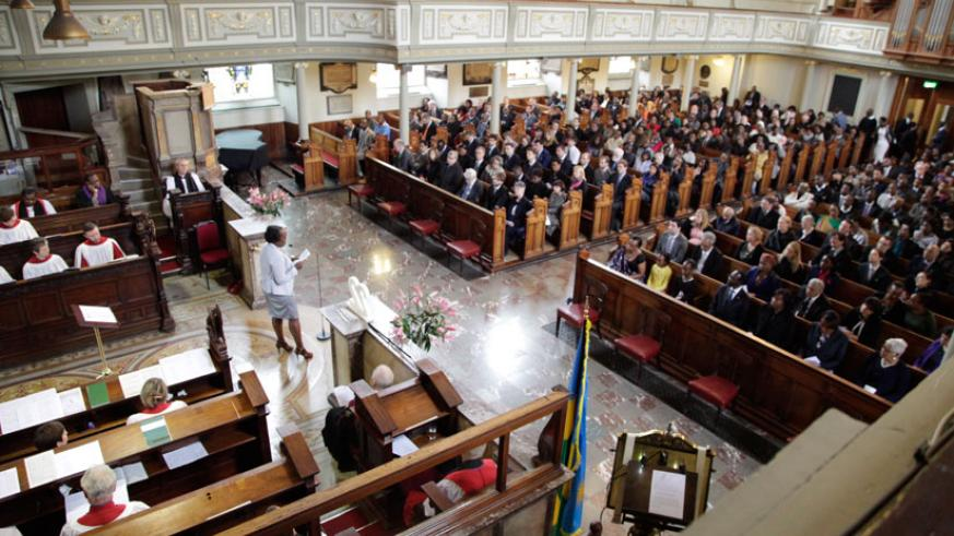 The service at St Marylebone Parish Church attracted over 600. (Courtesy)
