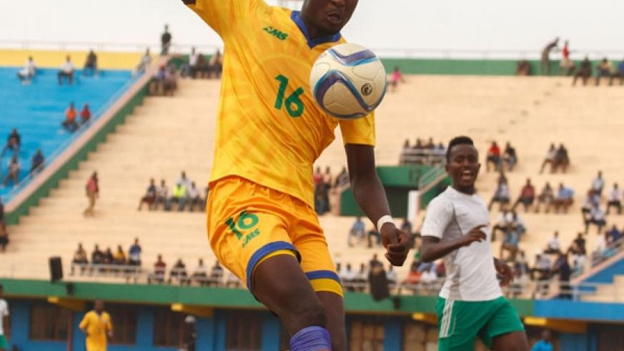 Ernest Sugira is hoping to leave AS Kigali on a high at the end of the season. (File)