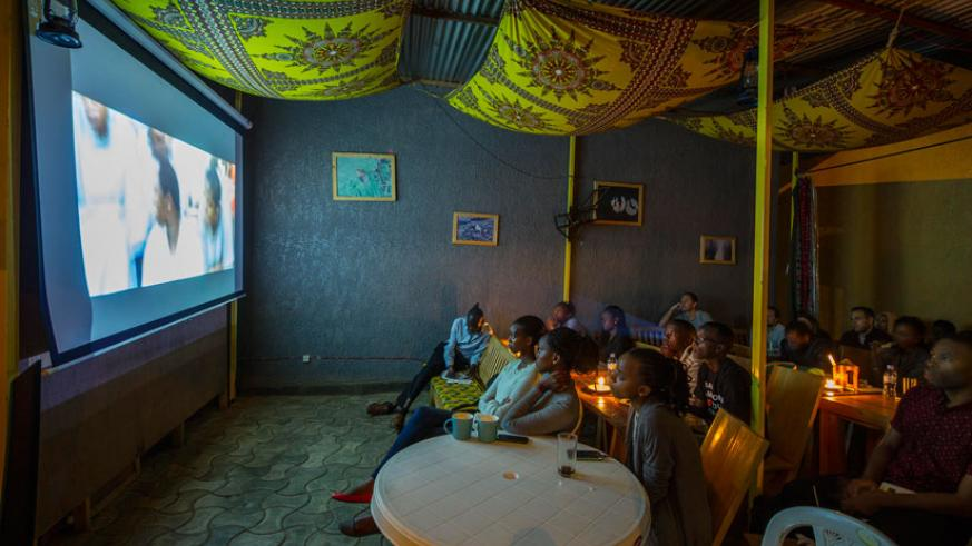 During the screening of Kinyarwanda, a movie about the 1994 Genocide against the Tutsi. (Courtesy)