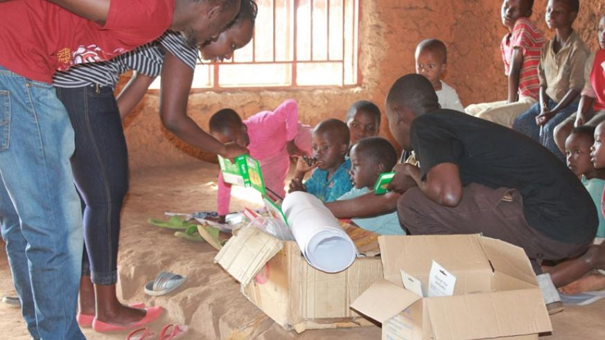 Conducting a reading class. (Moses Opobo)