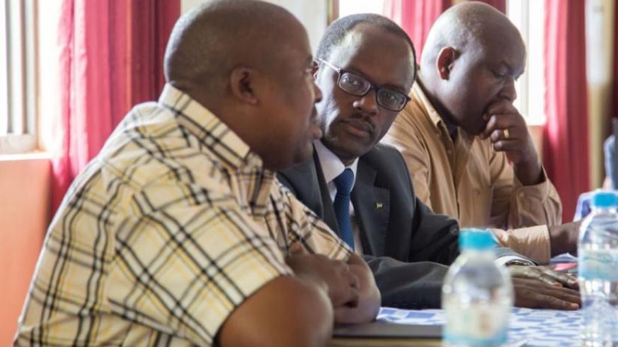 Some of the officials at the meeting on how to help survivors get back property. (D. Umutesi)