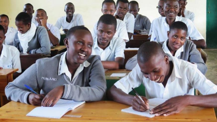 Students at GS Officiel de Butare in class last year. (File)