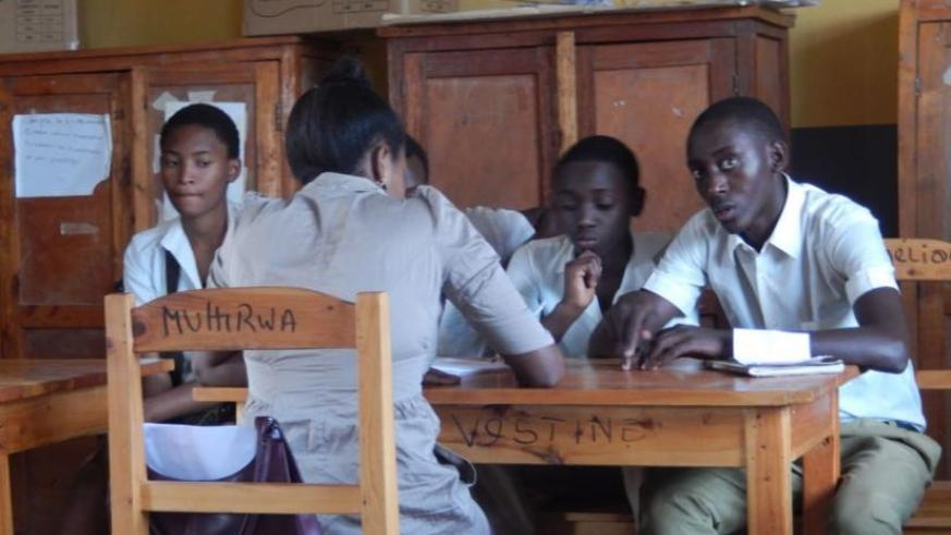 Students attending a counselling session. (Solomon Asaba)