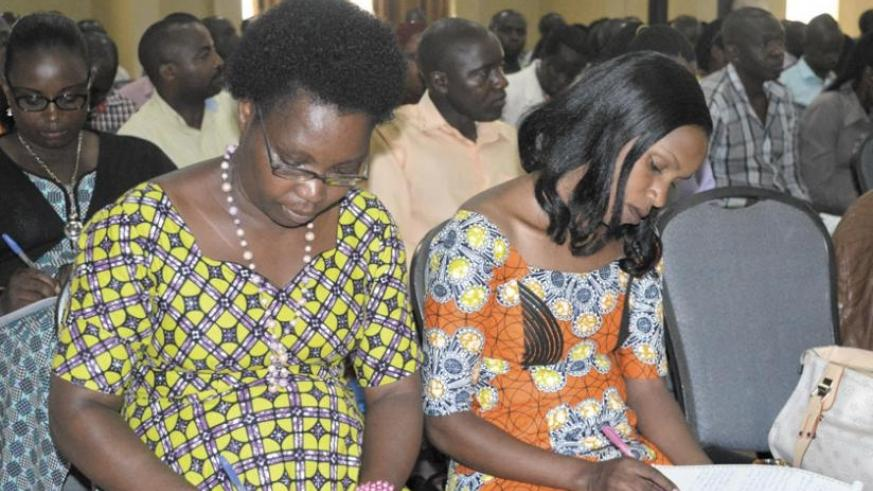 Some of the participants take notes at the training. (Frederic Byumvuhore)