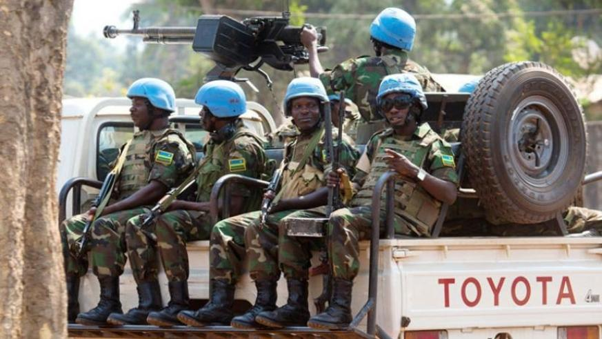 RDF peacekeepers on patrol in Bangui, Central African Republic. (File)