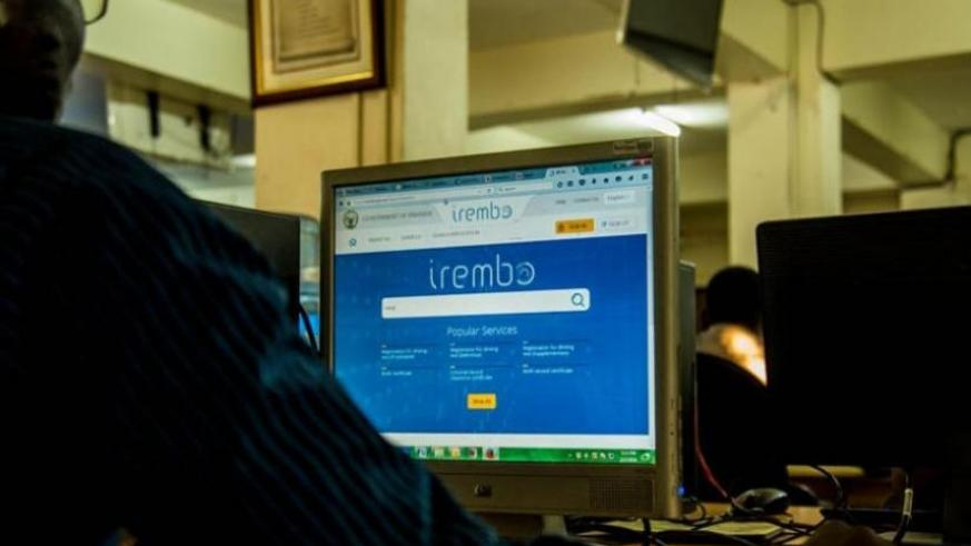 An internet user surfs Irembo website. (File)
