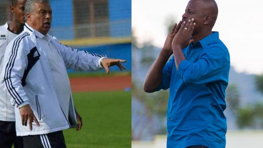 APR coach Khanfir (L) thinks his team have picked top form, while Police's Mbungo (R) says he needs a win to remain in the title race. (Courtesy)