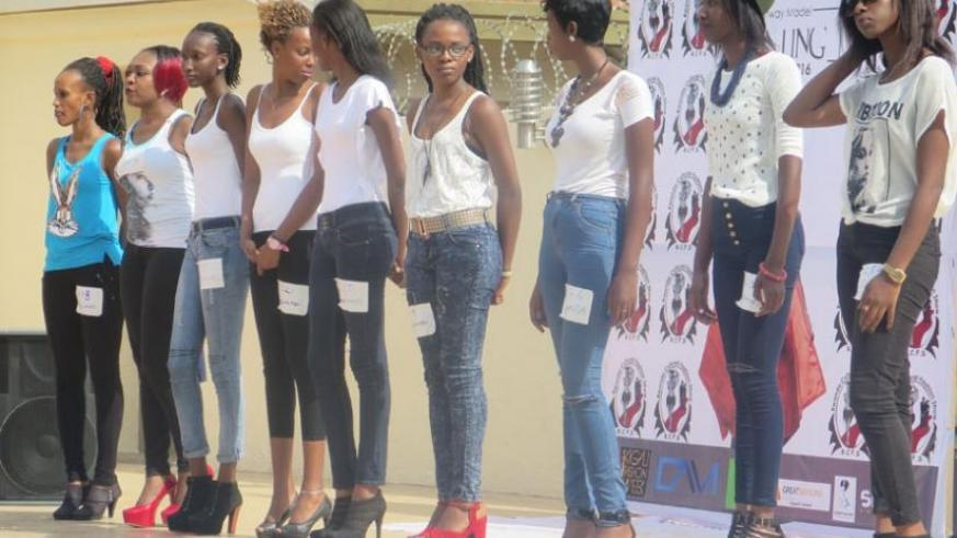 Catwalk hopefuls rehearse ahead of next month's Cultural Fashion Night in Kigali.