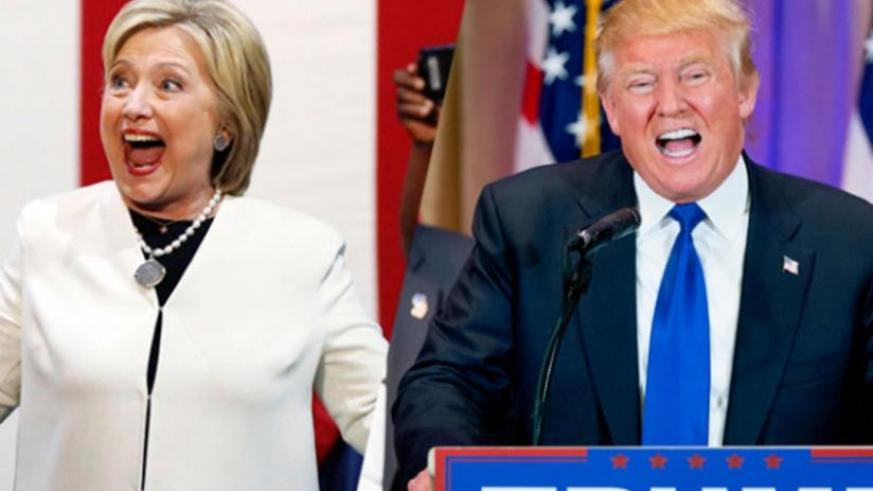 Hillary Clinton (L) and Donald Trump won presidential primaries on Tuesday (Net photo)