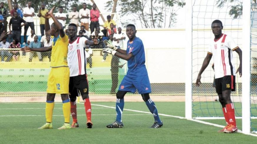 Uganda fielded Vipers Sports Club goal keeper James Aheebwa, who had two different identities on his club license and national passport. (S. Ngendahimana)