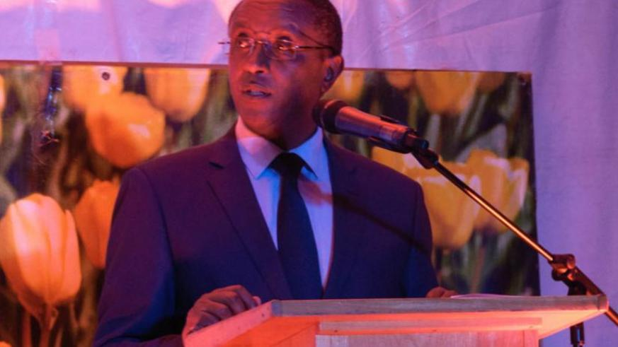 Minister Dr  Biruta speaks at the event in Kigali. (Teddy Kamanzi)