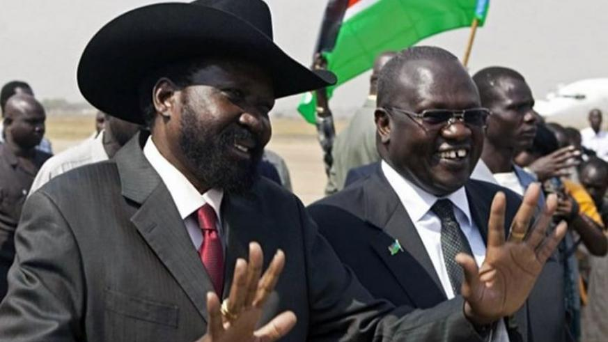 Kiir (L) and Machar will finally work together again. (Net photo)