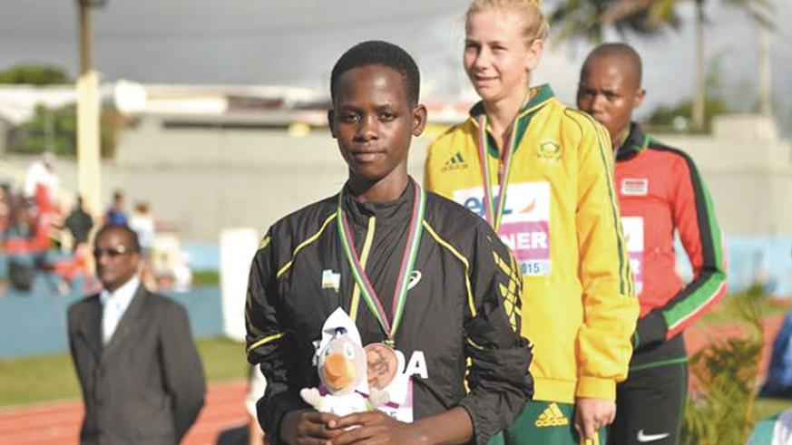 Iribagiza won bronze medal in the 800m at the Africa Youth Athletics Championships last year. (File)