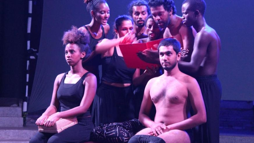 The Cast of Dear Children, a collaborative effort between Sri Lankan and Rwandan performers. (Courtesy)