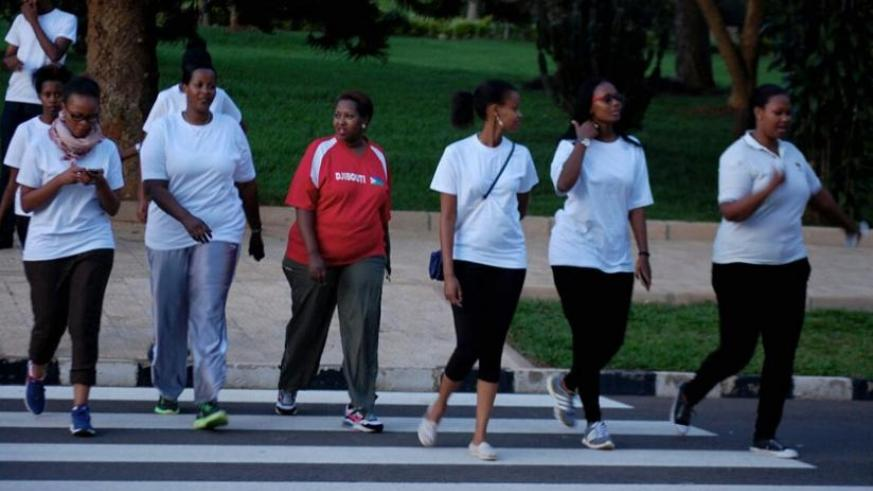 Some of the participants in the Blood clot Awareness Walk held in Kigali in March. (Donah Mbabazi)