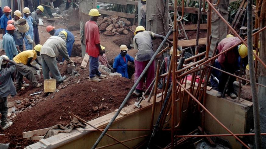 Workers at a construction site. (File)