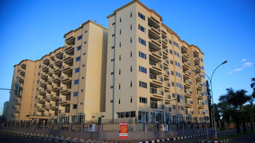 An upmarket apartment block in Kigali. Real estate is one of the sectors that continue to attract FDIs into Rwanda. (T. Kisambira)