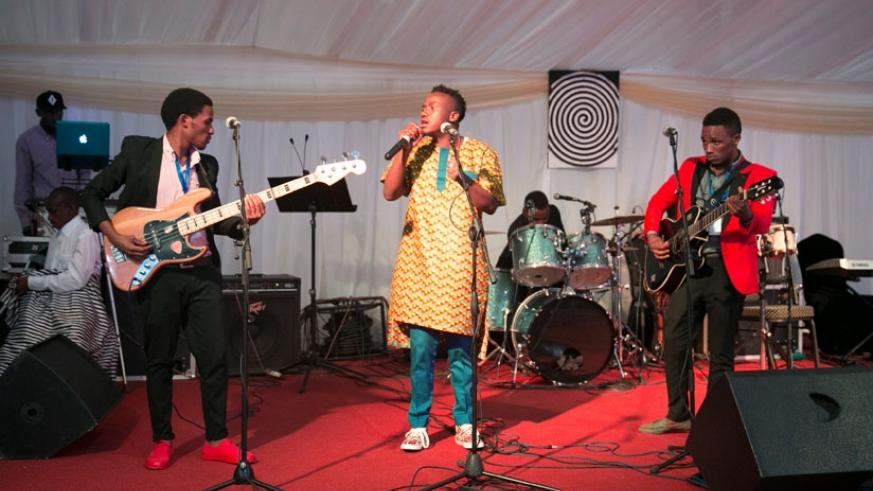 Mani Martin entertaining guests at WEF. (File)