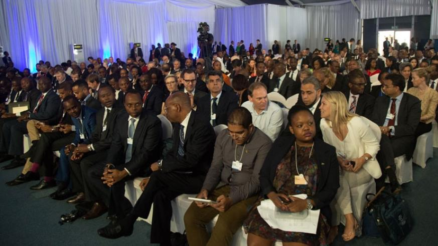 A crsoss-section of WEF participants. More is required to make Rwanda more competitive as a MICE hub. (T.Kisambira)