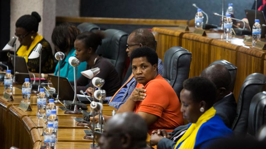 Lawmakers follow proceedings during the Budget Presentation. (Timothy Kisambira)