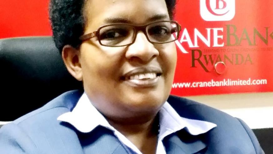 Edigold Monday is the first woman to manage a commercial bank in Rwanda. (Net photo)