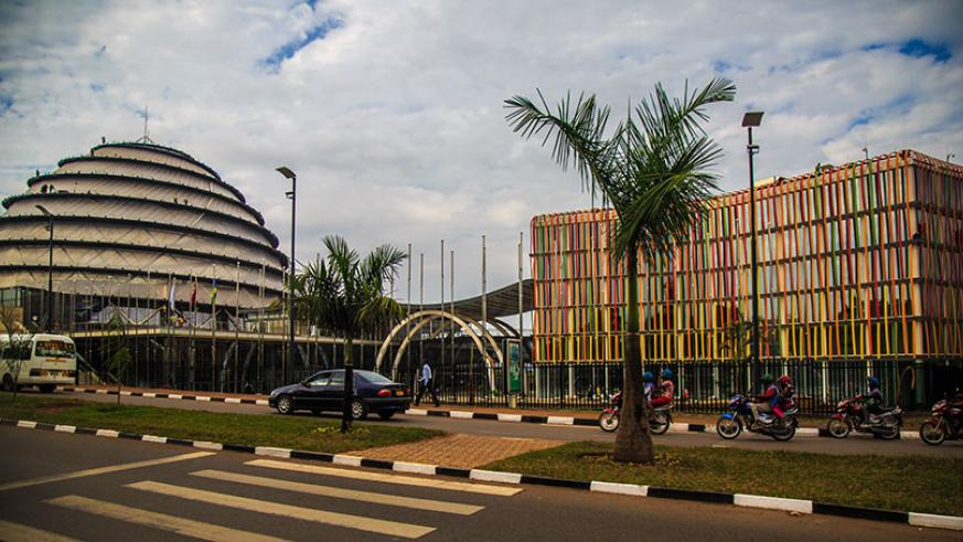 The Magnificent Kigali Convention Center is expected to be completed in July. (File)