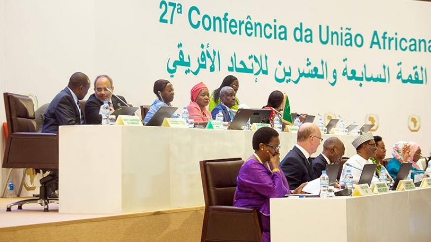 Delegates during one of the sessions at the just-concluded AU Summit in Kigali. / File.