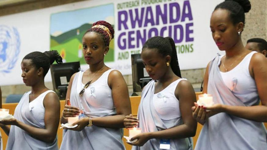 Young mourners during a Genocide commemoration anniversary event. (Net photo)