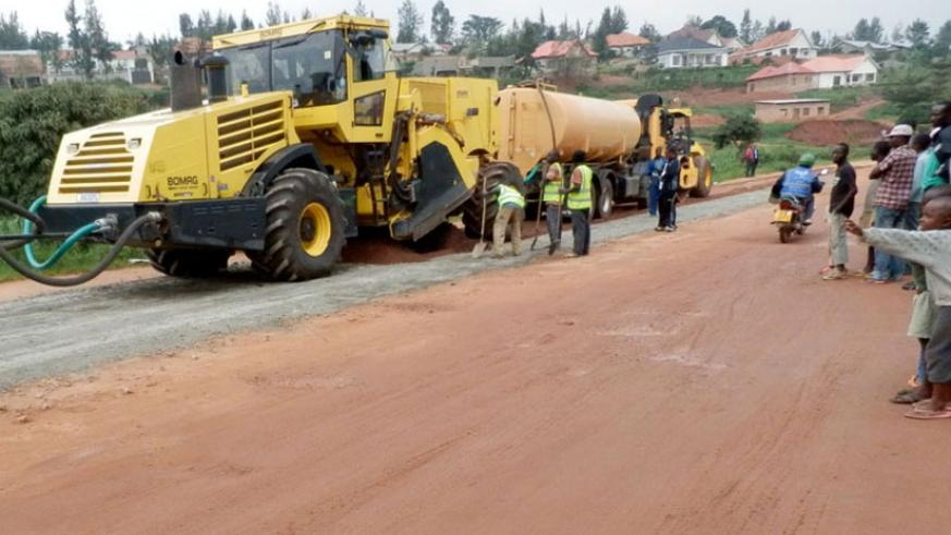 Horizon has partnered with Gasabo District to upgrade and renovate roads according to the city master plan. / File.