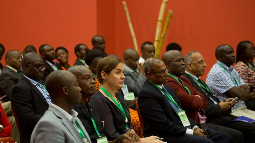 Participants follow proceedings during the meeting in Kigali. (T.Kisambira)