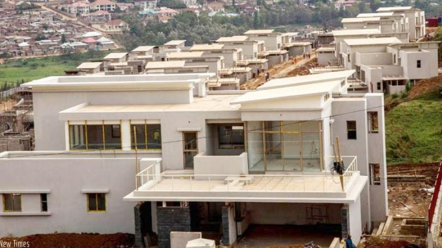 Some of the high-end housing units being constructed in Gasabo. / File.