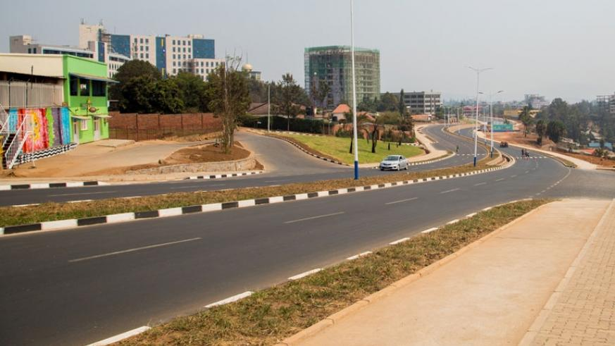 The new bypass road as seen from The New Times office toward Kacyiru area. (Faustin Niyigena)