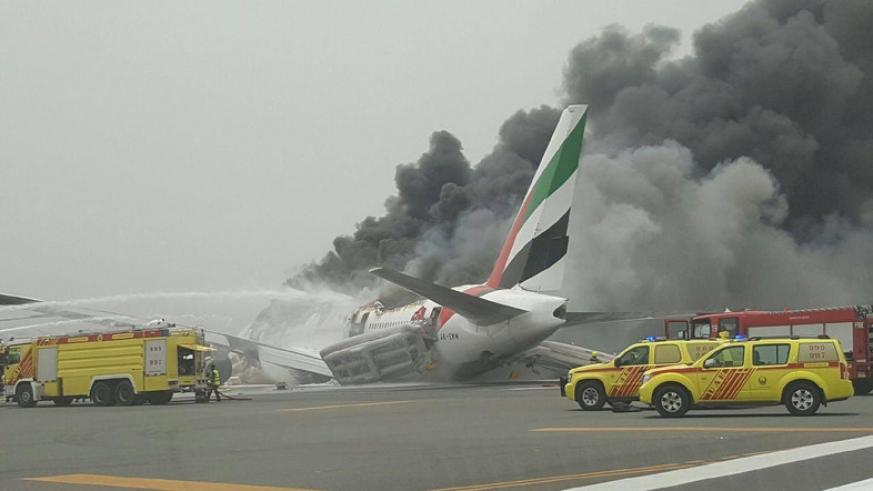 Footage on social media showed smoke billowing from the aircraft, while passengers were reportedly escorted to safety. / Al Arabiya.