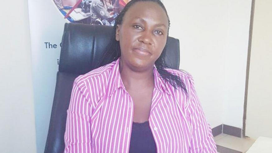 Mushimiyina during the interview at her office. (S. Kantengwa)
