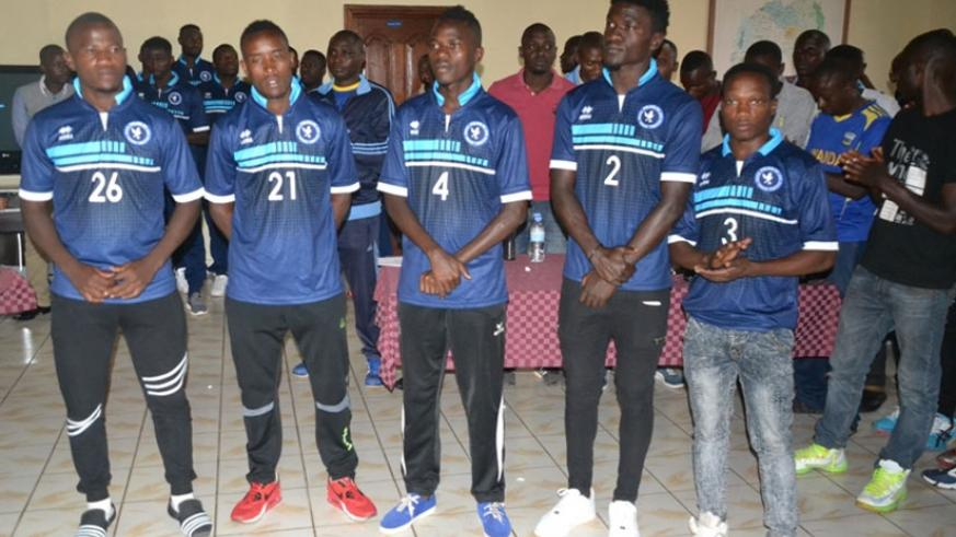 Some of Police FC's new signings being unveilled on Monday as the club prepares for the 2016-17 season. (Courtesy)