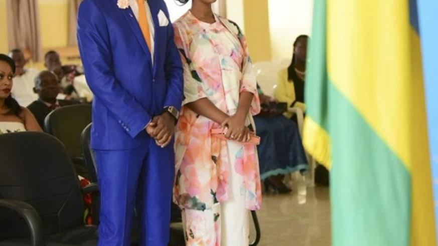 Before the law. By law, Clement and Knowless are husband and wife. (Net photo)