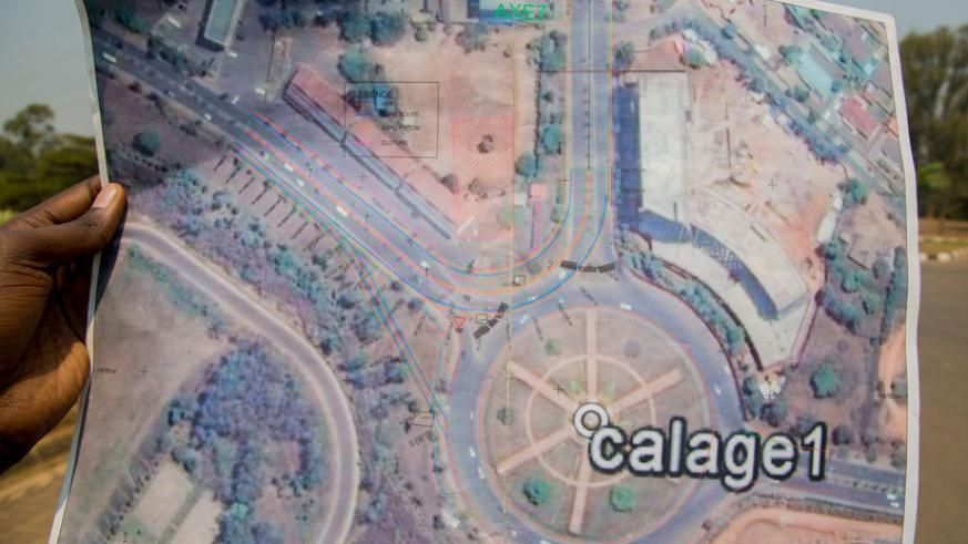 An architectural impression of the roads connecting to the Kimihurura/KBC roundabout in Kigali. / File photo.
