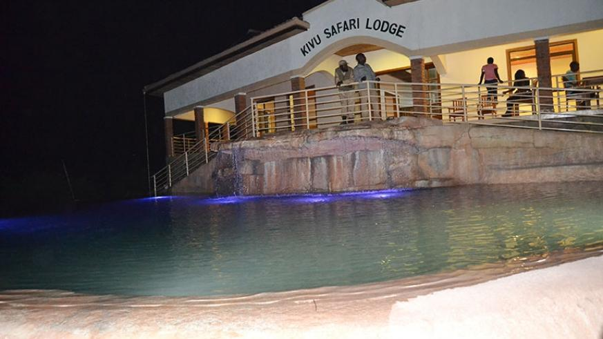 A swimming pool designed from the rock in the Peninsula gives a spectacular view. / Jean d'Amour Mbonyinshuti.