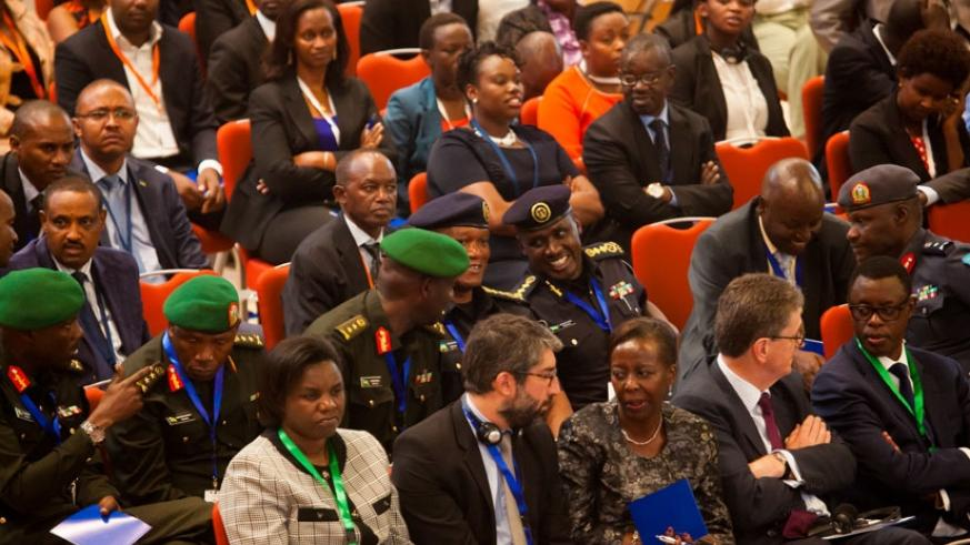 Participants follow proceedings during the CISSA meeting in Kigali last week. / Timothy Kisambira.
