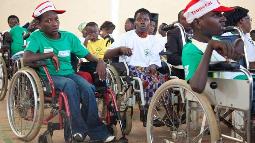 Some of the children with disability at Petit Stade in Remera during a past event to mark the International Day of Persons with Disabilities. (File)