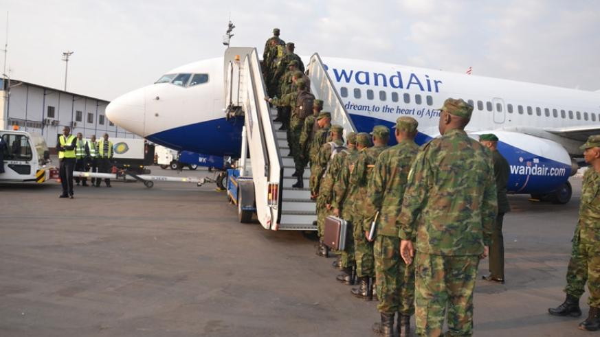 70 medical personnel of the Rwanda Defence Force (RDF) departed Kigali for medical peacekeeping mission under the UN Mission in Central African Republic.