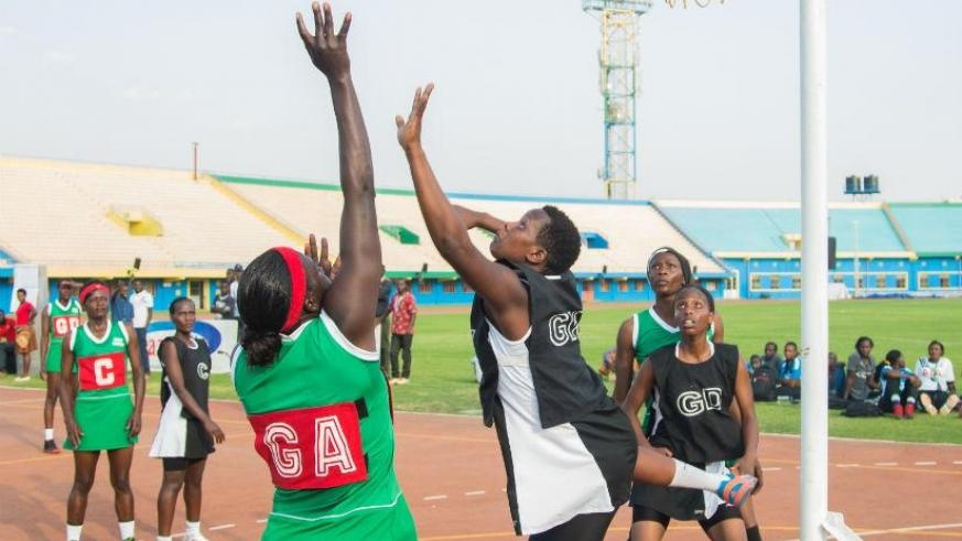 Kenya beat hosts Rwanda 43-22 in the opening netball game of the EAC Military Games on Wednesday. / Faustin Niyigena.