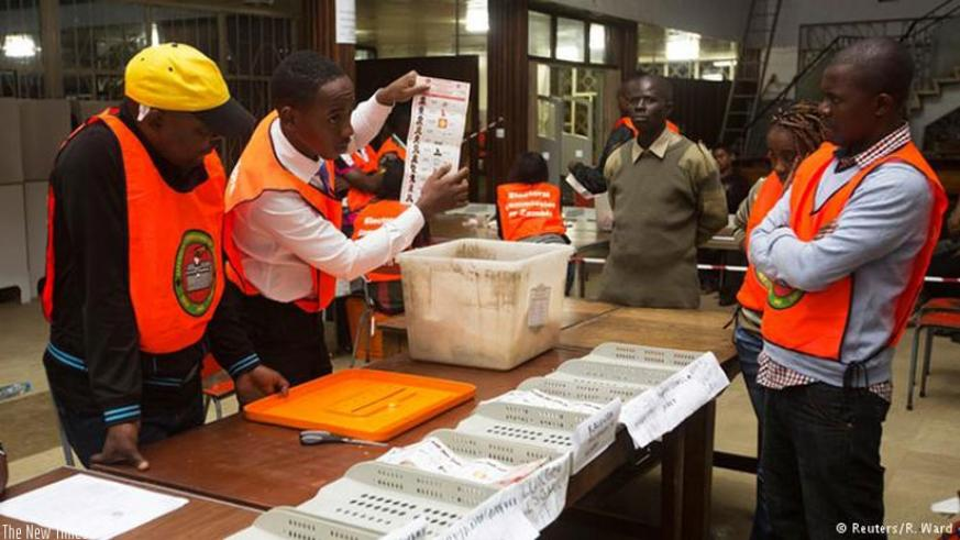 Vote counting was nearing its end in Zambia on Friday (Net Photo)