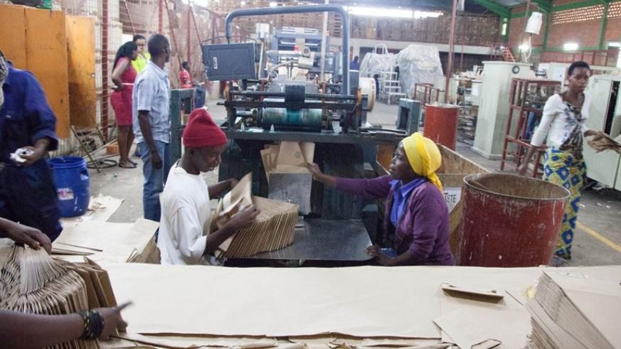 A paper factory in Kigali. Development experts say African economies need to invest in local industry. / File.