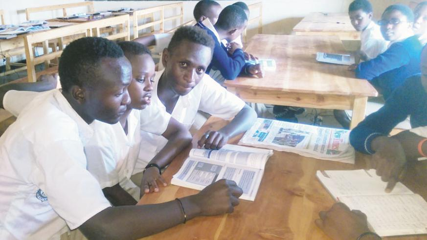 Students in a group discussion. Such activities are essential for the learner-centred approach to succeed. / Julius Bizimungu.