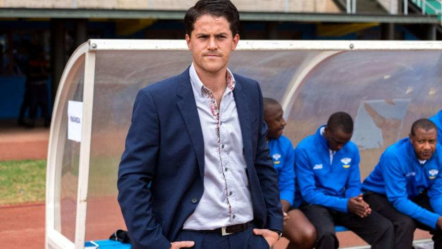 McKinstry on the touchline during the first leg of the 2017 Group H AfCON qualifier against Ghana at Amahoro stadium, which Rwanda lost 1-0. (File photo)