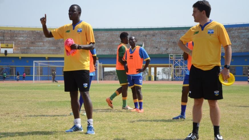 Mulisa (right) is set to take over from Johnny McKinstry (left) as Amavubi coach for the Ghana qualifier. (S. Ngedahimana.)